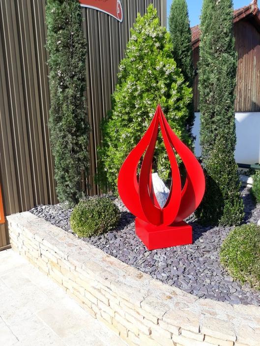 décoration jardin aluminiium