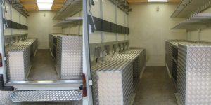 aménagement véhicule aluminium