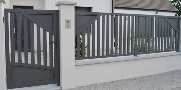 portails aluminium contemporains